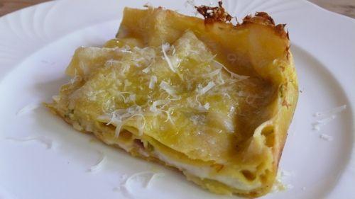 Ricetta lasagne con stracchino e pistacchi
