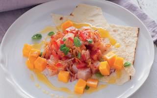 Ricetta pesce spada con verdure, frutta e pane croccante ...