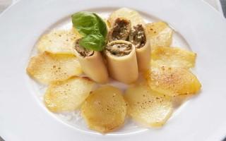 Ricetta paccheri al tonno e patate gratinate al parmigiano reggiano ...