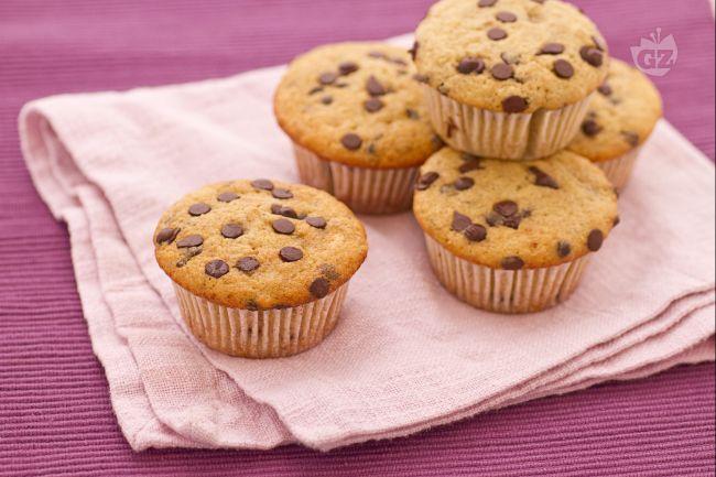 Ricetta muffin alla banana e gocce di cioccolato (muffin del ...