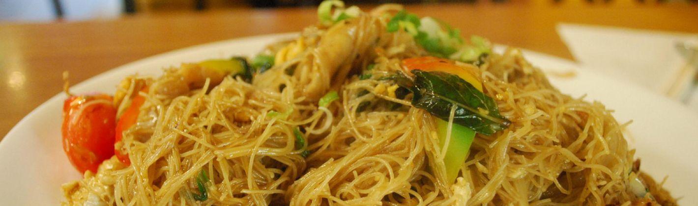 Ricetta spaghetti di riso alla thailandese