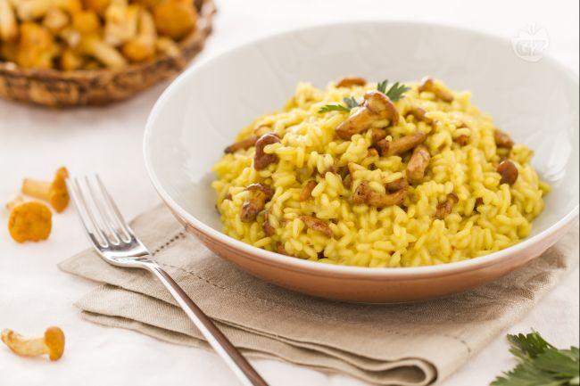 Ricetta risotto giallo ai finferli