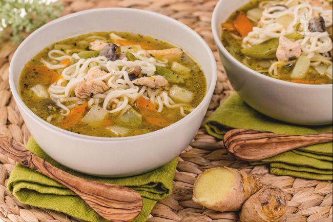 Ricetta zuppa di noodles