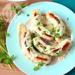 Boudin blanc (salsiccia di pollo alla francese)