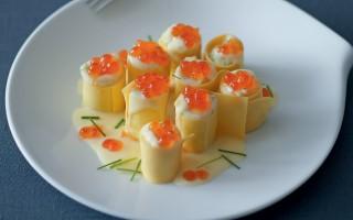 Ricetta cannelloni con caviale di salmone e patate