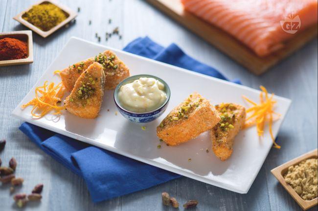 Ricetta bocconcini di salmone speziato croccante