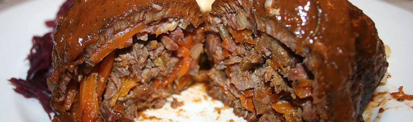 Ricetta ricette involtini di carne al sugo di funghi