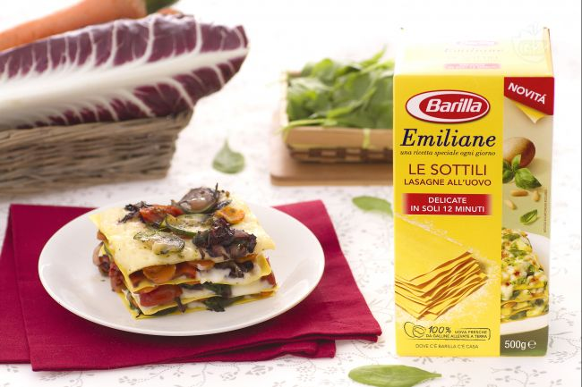 Ricetta lasagne alle verdure con crema al taleggio