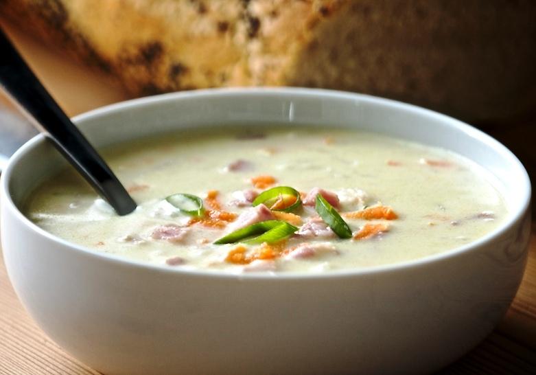 Zuppa di prosciutto alla parmense