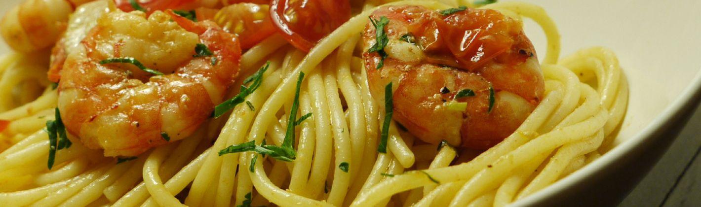 Ricetta spaghetti di farro semi integrale con gamberi