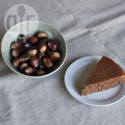 Torta con castagne e cioccolato