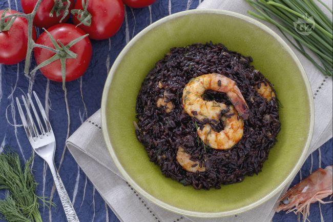 Ricetta riso venere con code di mazzancolle