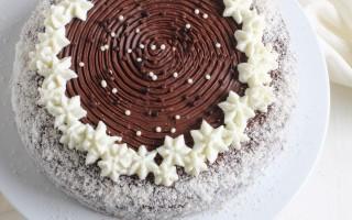 Ricetta torta al cioccolato fondente con crema al cocco