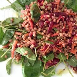 Insalata di lenticchie e grano saraceno