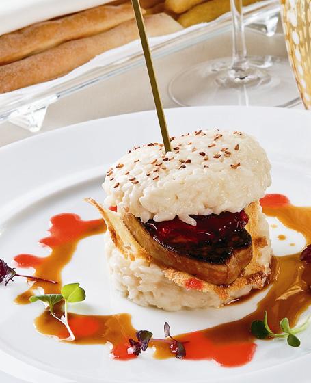 Sandwich di riso e foie gras