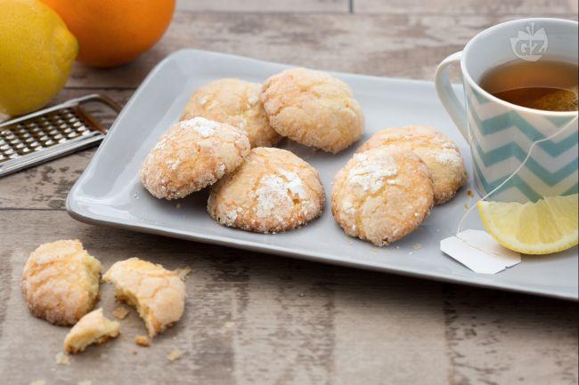Ricetta biscotti morbidi limone e arancia