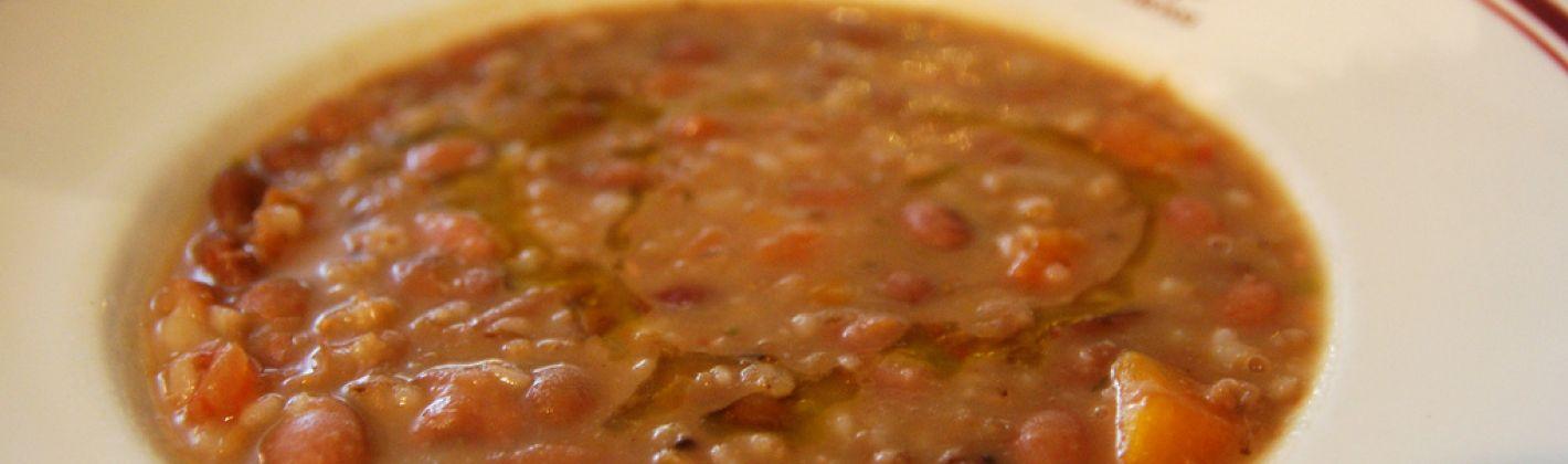 Ricetta zuppa di farro e lenticchie