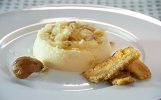 Ricetta polentina bianca con scaglie di castagne cotte e porcini fritti ...