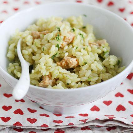 Riso integrale con broccoletti e salsiccia