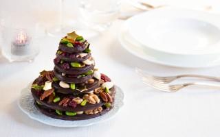 Ricetta alberello di natale di cioccolato e frutta secca
