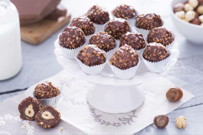 Ricetta praline di cioccolato e nocciole