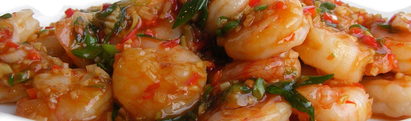 Ricetta scampi in salsa piccante con il bimby