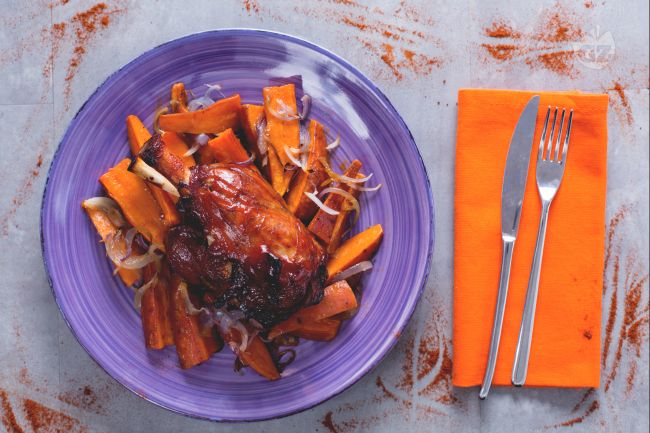 Ricetta stinco di maiale in salsa barbecue