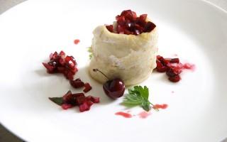 Ricetta persico africano con salsa fredda di ciliegie