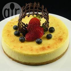 Cheesecake al cioccolato bianco e frutto della passione