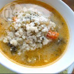 Minestra di riso e indivia