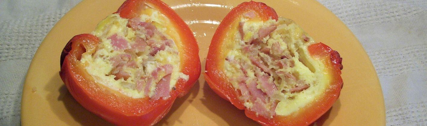 Ricetta peperoni con prosciutto e formaggio