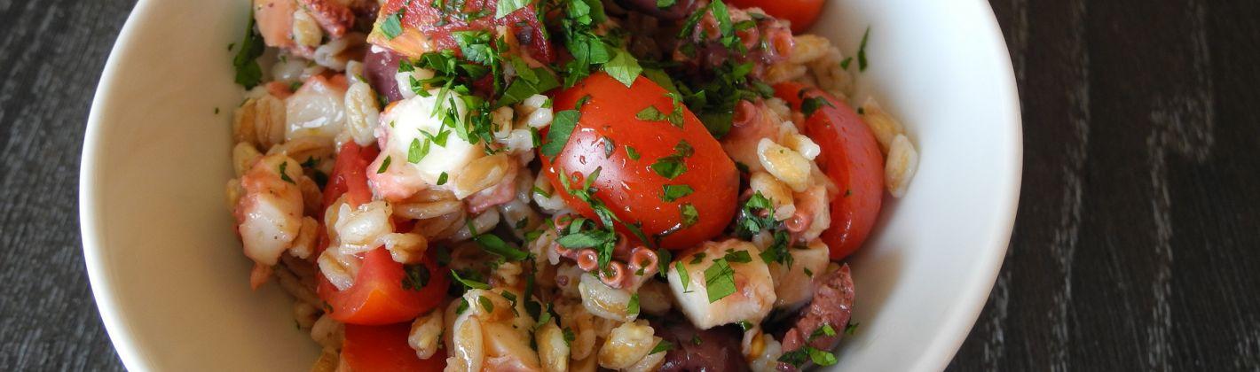Ricetta insalata di farro e polpo