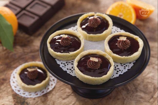 Ricetta cestini all'arancia e cioccolato