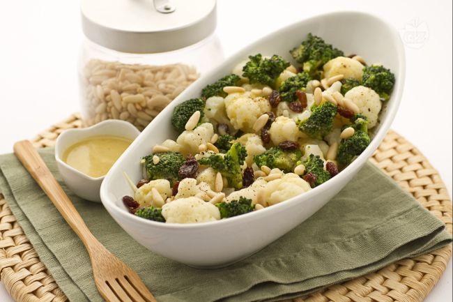 Ricetta insalata di broccoli,cavolfiori e indivia belga