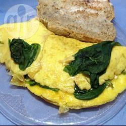 Omelette con feta e spinaci