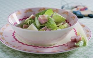 Ricetta lattuga, fontina e prosciutto cotto