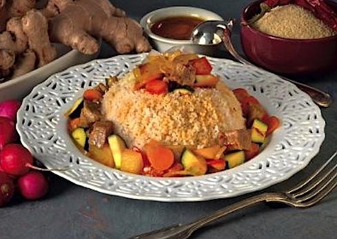 Couscous con agnello, manzo e ortaggi