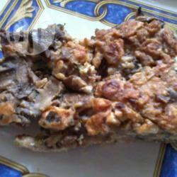 Focaccia autunnale con funghi e castagne