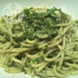 Spaghetti al pesto di rucola