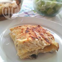 Lasagne ai funghi e prosciutto