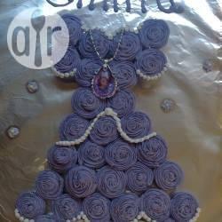 Cupcake a vestito di principessa
