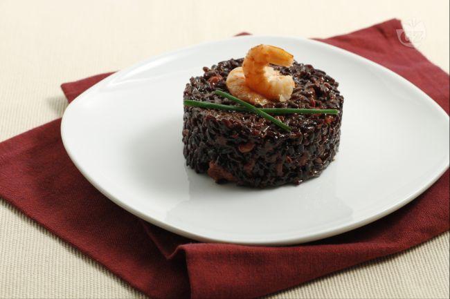 Ricetta riso venere con ciuffi di calamari e mazzancolle