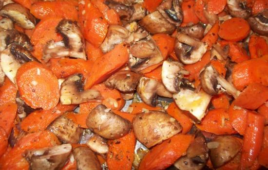 Carote ai funghi