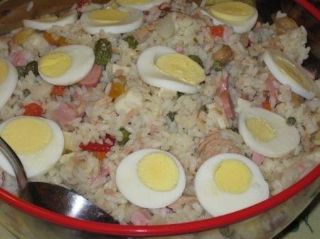 Ricetta insalata di riso con salumi