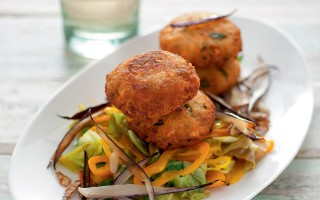 Ricetta polpette di salmone e cous cous con verdure