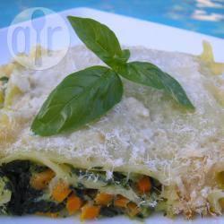 Lasagne al pesto e verdure di stagione