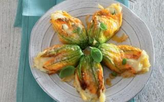Ricetta fiori di zucca ripieni di patate