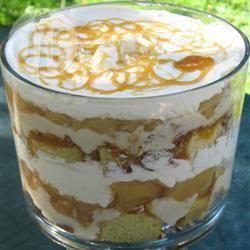 Trifle con mele e salsa mou