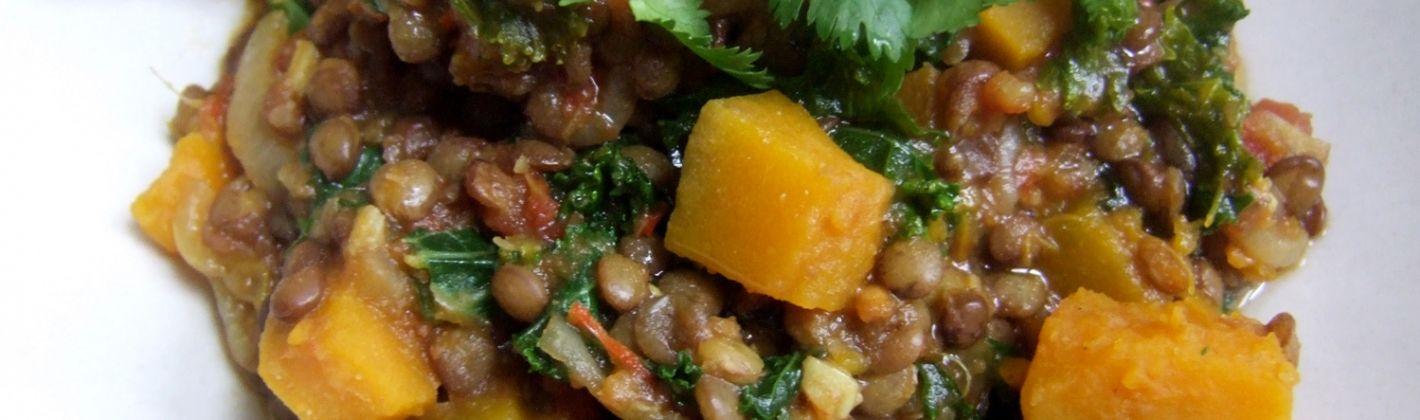 Ricetta lenticchie e zucca