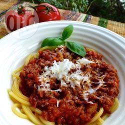 Spaghetti al ragù di manzo macinato